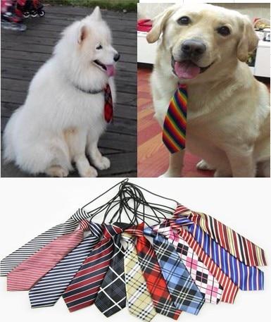100pc lot 2016 Large Dog Neckties For Big Pet Dogs Ties Grooming Ties Dog Supplies Neckties