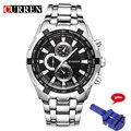 Curren 8023 de los hombres relojes de primeras marcas de lujo de los hombres relojes militares completa de acero inoxidable deportes reloj de los hombres relogio muñeca militar