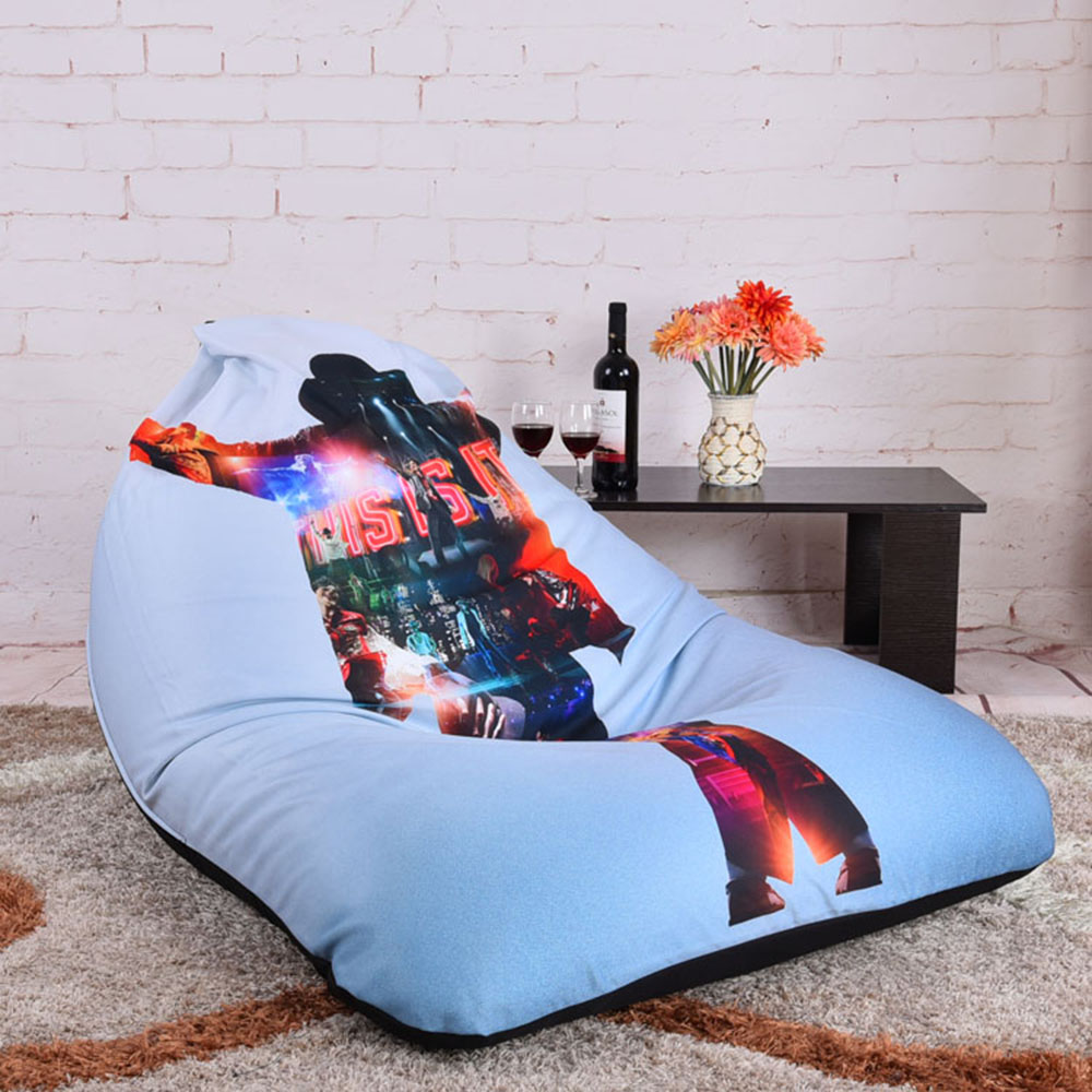Levmoon Beanbag Sofa Chair Michael Jackson Seat Zac Comfort Bean Bag Bed Cover Without Filler Cotton Indoor Lounge In Living Room Sofas From