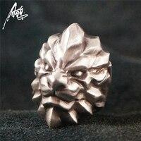 Индивидуальные Одежда высшего качества Король Лев кольцо 925 Серебряные кольца для Для мужчин животных ювелирных изделий