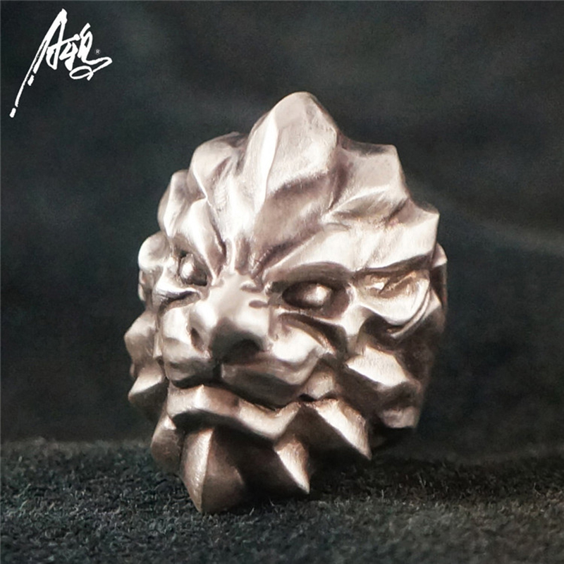 Customized Top Quality The Lion King Ring 925 Silver Rings for Men Animal Jewelry soundgarden king animal