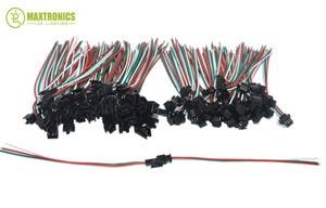 Image 2 - 100 пар 3 контакта JST SM Разъемы для WS2812B WS2811 WS2812 RGB Светодиодная лента гнездо штырь бесплатно shjipping