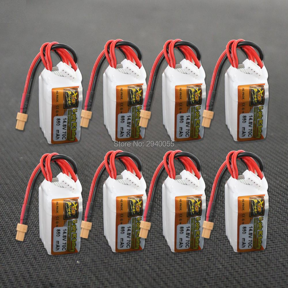 ZOP Power LiPo Battery 8pcs 14.8V 850mAh 70C 4S XT30 Plug For RC Quadcopter Drone Helicopter Car Airplane zanussi zop 37902 xk в краснодаре