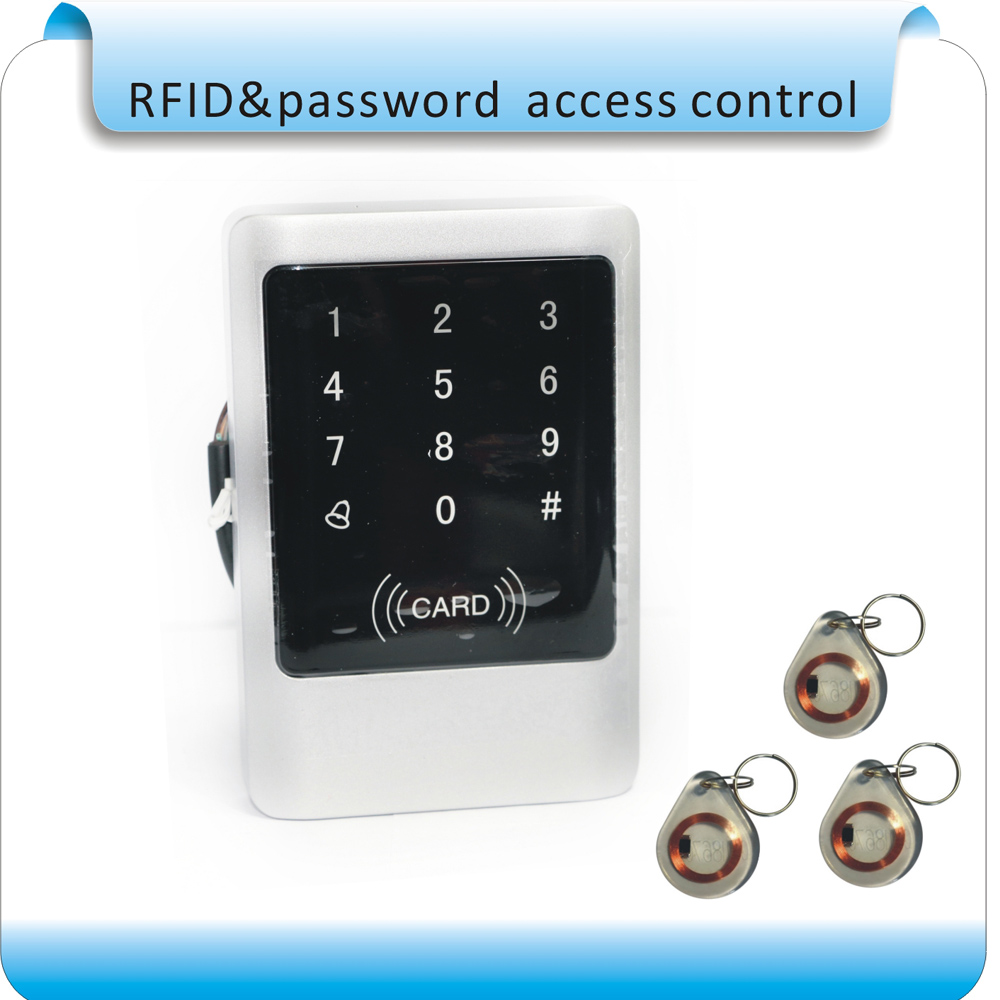 DIY Metal waterproof touch access control machine EM 125KHZ RFID  card access controller /waterproof  keyboard metal rfid em card reader ip68 waterproof metal standalone door lock access control system with keypad 2000 card users capacity