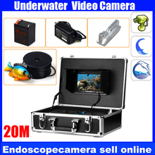 Transportable 20m Underwater Video System with 600TVL Digicam HD Colour Monitor For Fishing