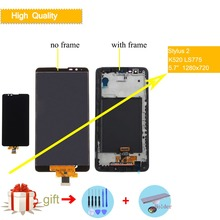 5.7 Original Display For LG Stylus 2 K520 LS775 LCD Touch Screen with Frame Assembly Complete Replacement