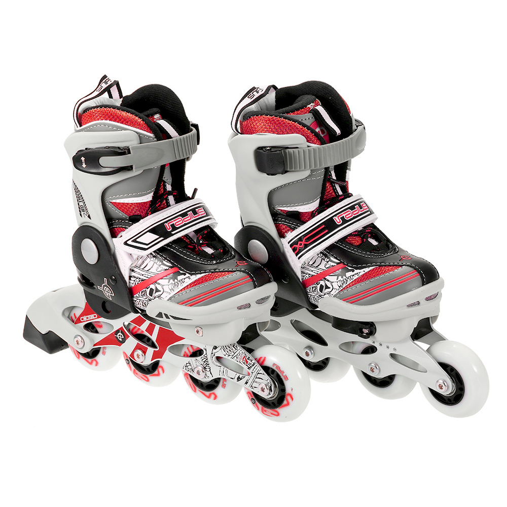 Portable Unisex Child Professional Adjustable Roller Skating Shoes Inline Skates 68mm Wheels with mute Bearings outdoor sports-in Skate Board from Sports & Entertainment