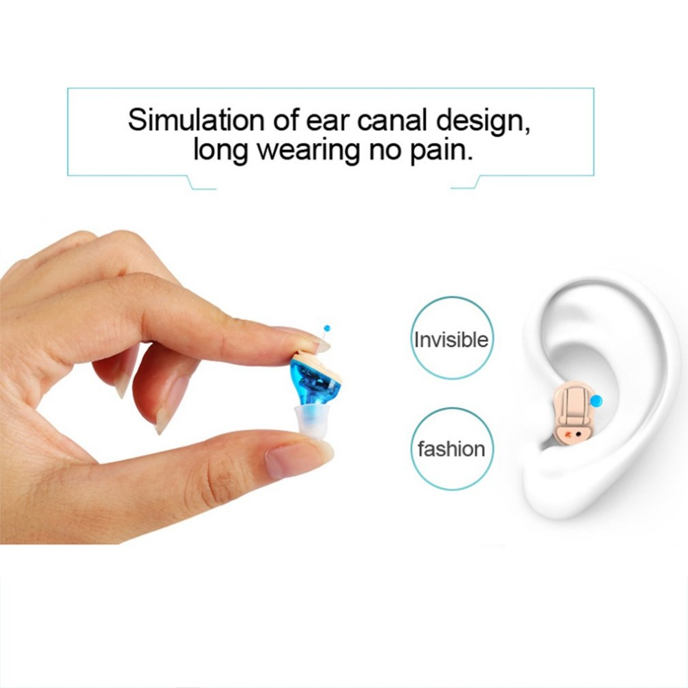 Hearing aid Wireless Mini CIC Hearing Aids Left/right Ear Best stereo Sound Amplifier hearing aid for the elderly hear aids micro ear hearing aid mini hearing aids for the elderly for right ear left ear hearing amplifier invisible hearing device c 108