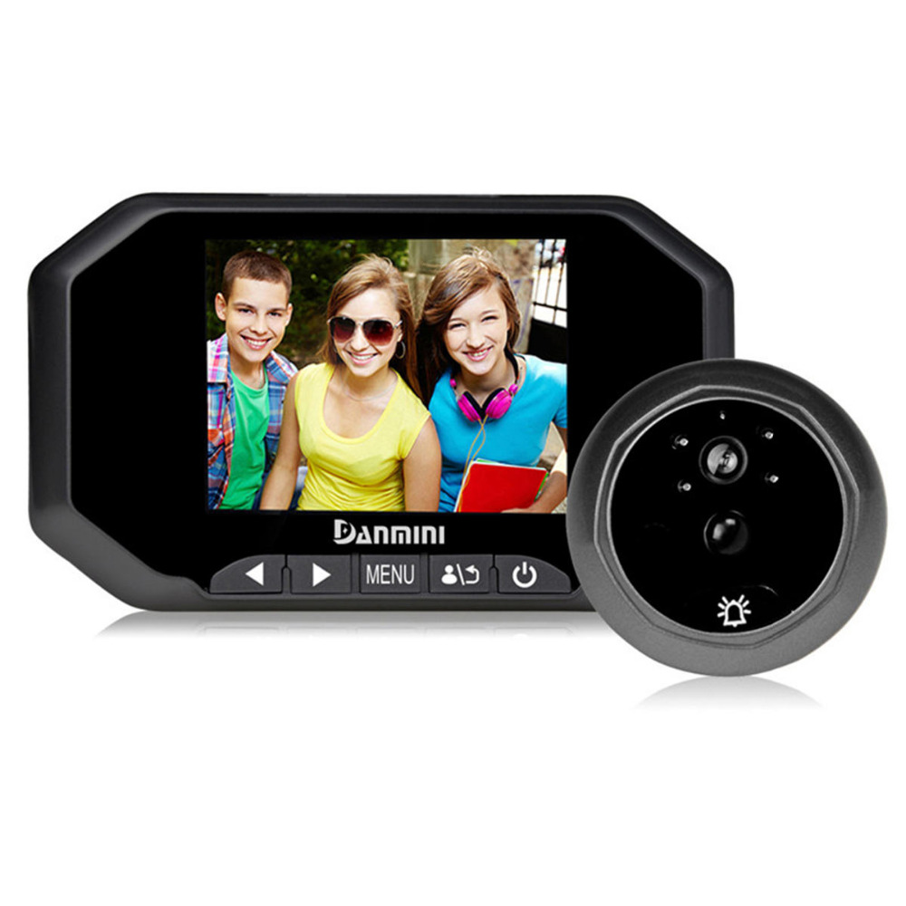 все цены на DANMINI 3.5 inch HD Digital Camera Peephole Viewer Video Record IR Night Vision Door Camera PIR Motion Sensor Video Doorbell