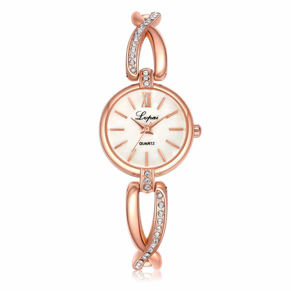 Lujosos relojes de pulsera de cristal para mujer, relojes de cuarzo Lvpai con diamantes de imitación para mujer, reloj de pulsera para mujer #5/22