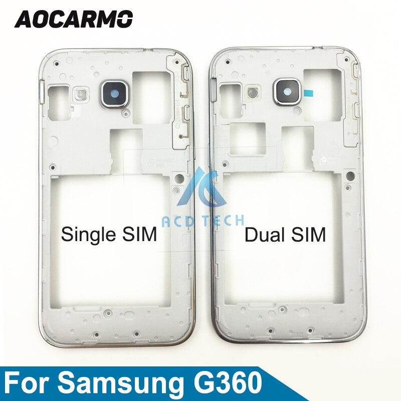 Aocarmo Ersatz Mittleren Rahmen Lünette Gehäuse Platte Bord Mit Taste Für Samsung GALAXY CORE Prime G360