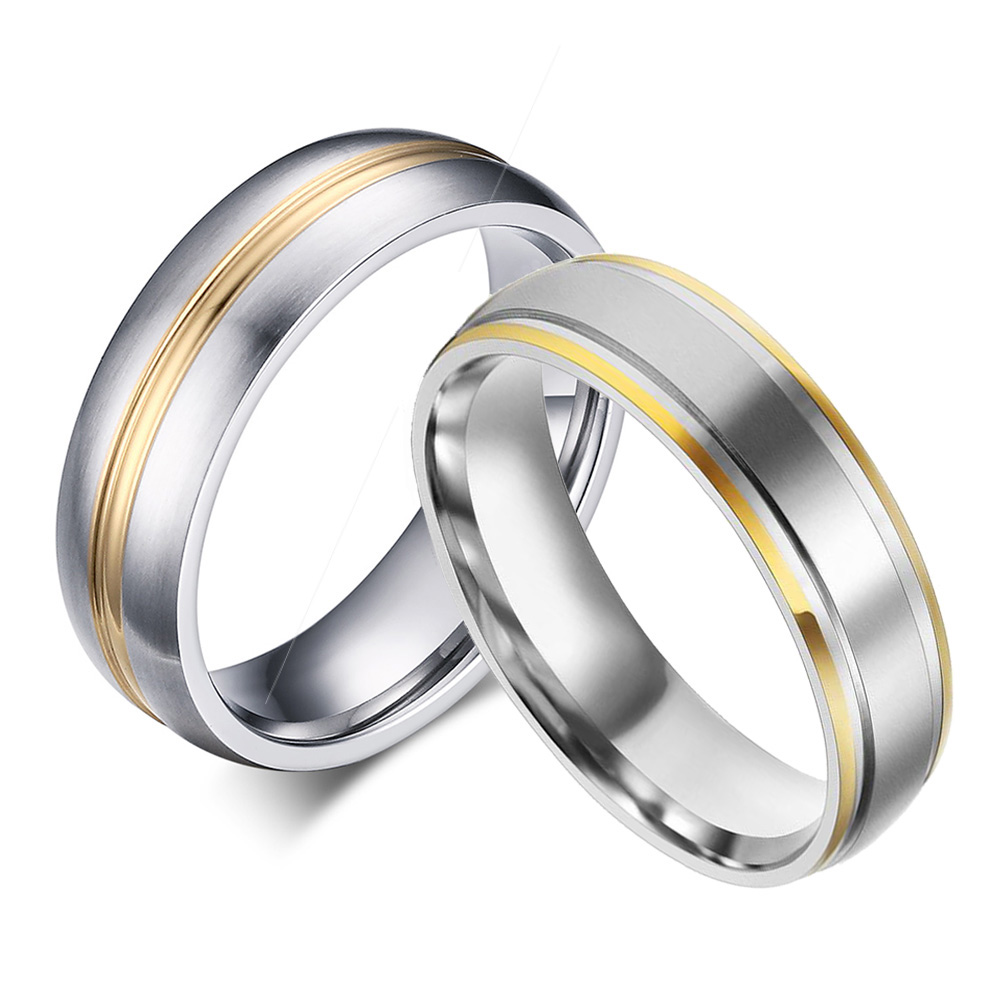 Gold Plated Titanium Rings 316L Stainless Steel Rings for ...