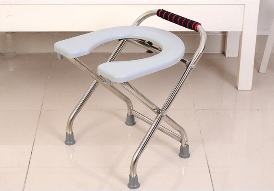 Sedia per doccia anziani pieghevole: cerchi sedile ribaltabile per