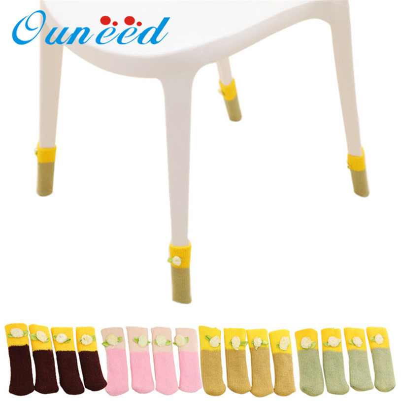 Lovely 4Pcs Chair Legs Table Foot Covers Floor Protectors Floral Kint Cover Hot u70626Lovely 4Pcs Chair Legs Table Foot Covers Floor Protectors Floral Kint Cover Hot u70626