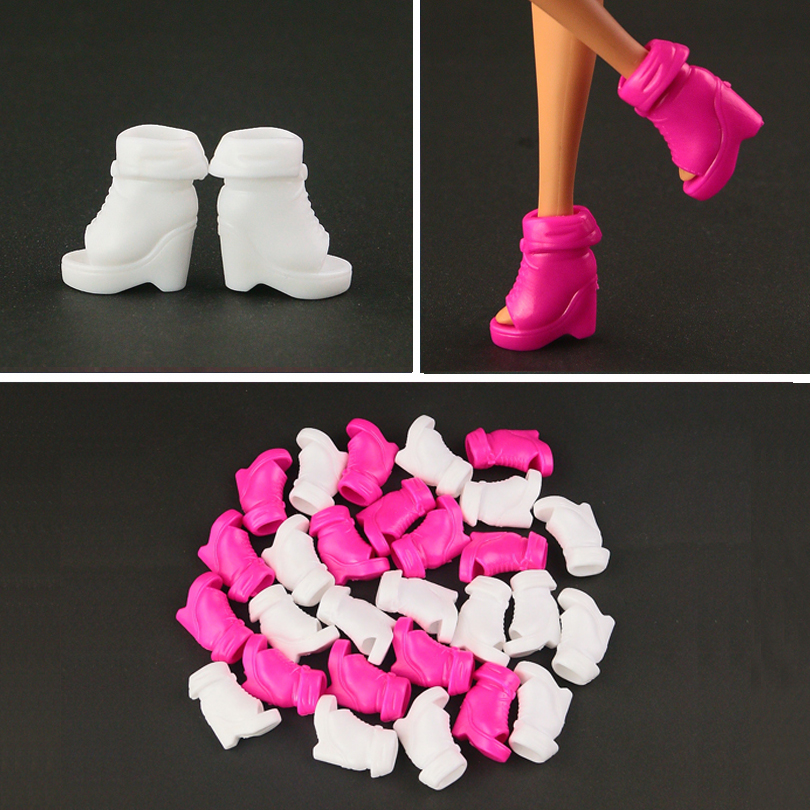New Barbie Doll White Shoes