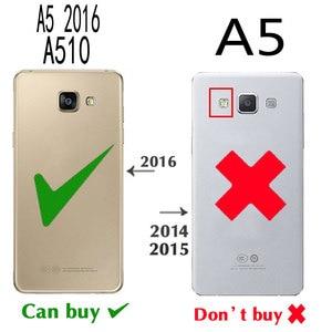 Image 5 - FDCWTS Flip כיסוי עור מקרה עבור Samsung Galaxy A5 2016 A510M A510 A510F A510H A510G טלפון מקרה טלפון דק ארנק תיק כרטיס