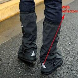 Venta al por menor y al por mayor fundas impermeables para zapatos reutilizables para moto ciclismo bicicleta cubierta para zapatos contra la lluvia con Relectors Unisex