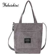 2019 Fashion Durable Women Student Cotton Linen Single Shoulder Bag Shopping Tote Check Plaid Female Flax Canvas Bags