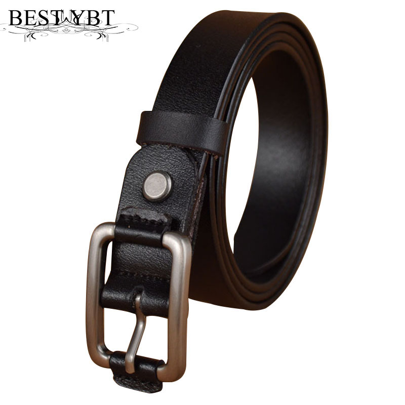 Best YBT Boys leather   belt   Boy student Alloy buckle   Belt   Jeans Imitation Leather   Belt   Strap Pin Buckle Teens Children Kids   Belt