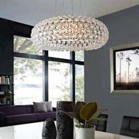 Dia35cm/50cm/65cm Modern Pendant Light Elegant style Lustres Cristal lustres e pendentes Transparent/Gold Color