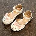2017 Sandalias de Los Niños Para Las Niñas Arco Zapatos de La Princesa Niños Sandalias de Los Bebés Zapatos de La Boca baja Sandalias de Verano Zapatos de Bebé Piso