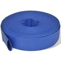 VidaXL Flat Pipe 50 M 2 Inches PVC Handy Fire Hose For Water Pumps Weather Resistant Lightweight Flexible Fire Hose