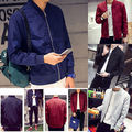 US STOCK Men Fashion Retro Classic Padded Bomber Jacket Flight Coat Zip Outwear