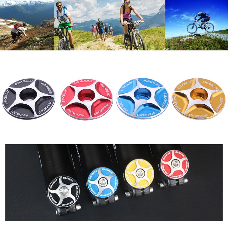 Aluminum Threadless Bicycle Headset Caps 28.6mm Mountain Bike Cycling MTB Stem Top Cap Cover