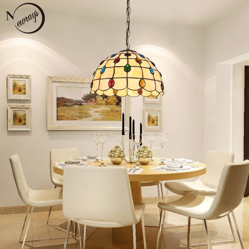 Europe Modern Glass Pendant Light LED E27 Nordic Country Retro Simple Hanging Lamp For Living Room Bedroom Restaurant Lobby Cafe