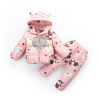 Winter warm down jacket for baby girl clothes child clothing sets boys parka real fur coat kids snow wear infant overcoat 30#