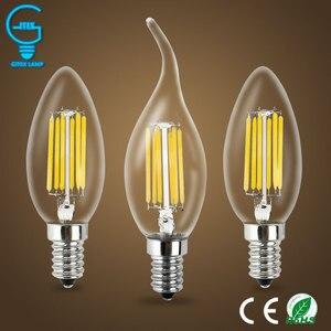 Светодиодные лампы в форме свечи, 2 Вт, 4 Вт, 6 Вт, E14, 220 В, переменный ток, лампы в 360 градусов, новый дизайн лампы, энергосберегающие лампы с регу...