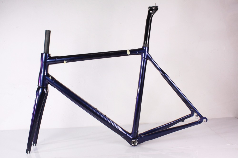 2018 nouveau style carbone route cadre modifiable couleur bicyclette de route de cadres BB68 pédalier pour vente