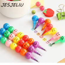Creative Sugar Coated Haw Cartoon Smiley Graffiti Pen 7 Colors font b Crayon b font font