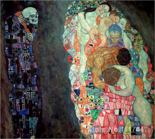 fine art paintings Death and Life Gustav Klimt replicas oil on canvas High quality Hand painted