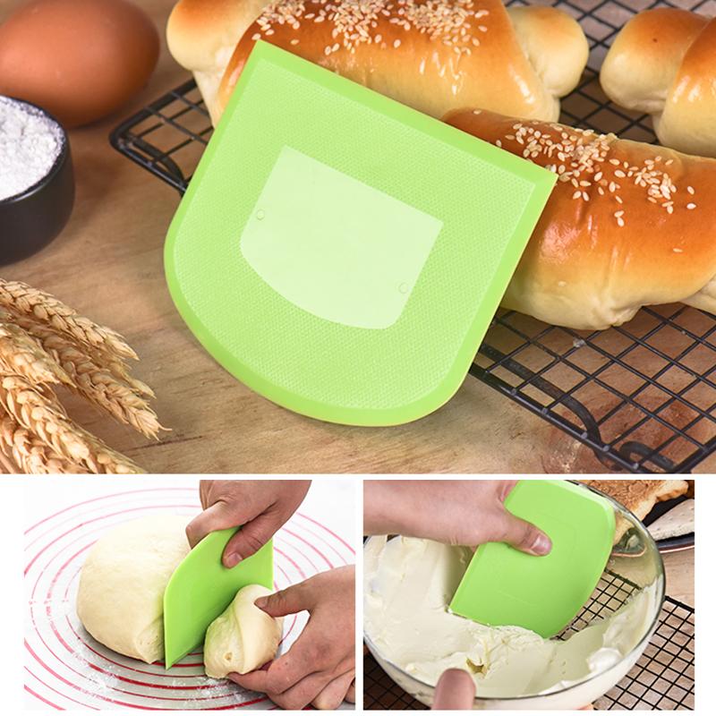 Image 2 - 1pcs Hot Sale Cream Smooth Cake Spatula Baking Pastry Tools Dough Scraper Kitchen Butter Knife Dough Cutter-in Pastry Cutters from Home & Garden