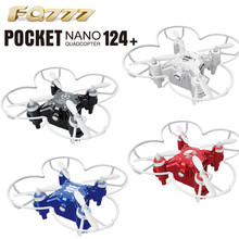 High Quqlity FQ777 124+ 4CH 6-Axis Gyro RTF 3D Eversion RC Pocket Quadcopter Drone Toy Toys Wholesale Free Shipping