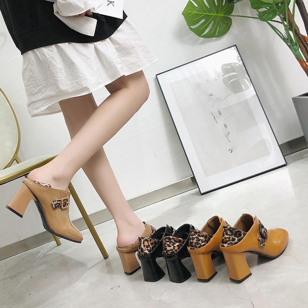 Cuadrado Botas Alto Nuevas Talón marrón Dedo 2019 De Del khaki Zapatos Leopardo Las Negro Impreso Mujeres Tacón Moda Mujer Pie nzxxSOw1