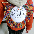 Lindo Leão Crianças Suéter Grosso Pulôver de Lã de Inverno Da Marca de Moda Para Meninos E Meninas Do Bebê Roupas Casuais Crianças