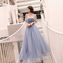 Evening Gowns Boat Neck Robe De Soiree Beading Pleat Women Party Dresses 2019 Long Plus Size Off The Shoulder Formal Dress E709