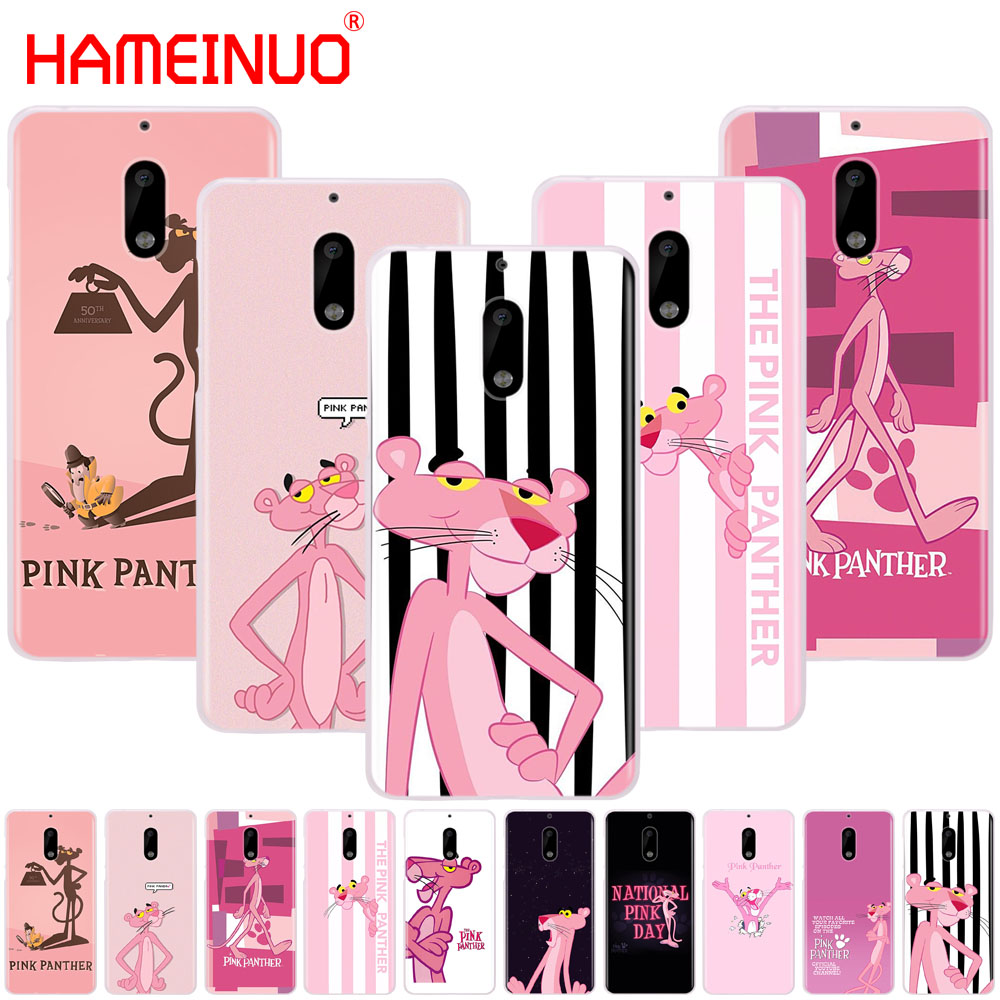HAMEINUO Pink Panther lovely cover phone case for Nokia 9 8 7 6 5 3 Lumia 630 640 640XL 2018