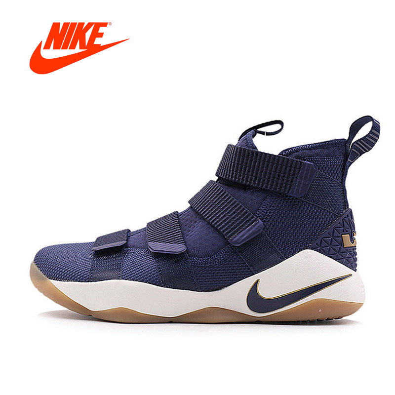 Original New Arrival Authentic Nike Men's LEBRON SOLDIER XI LBJ Basketball Shoes Breathable Sports sneakers все цены