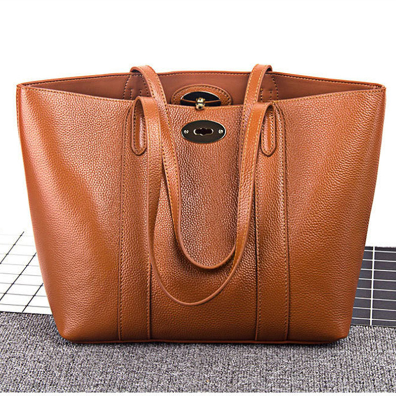 New Natural Cowskin women bag Brand Simple Design Fashion Shoulder Bag Genuine Leather bags for women 2018 bolsa feminina fashion leather women shoulder big bag genuine leather cowskin paste brand luxury leather message women bag 7 colors p1006a