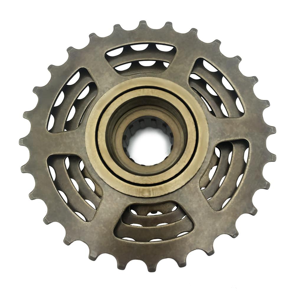 Sunrace M2A 7-Speed Freewheel Sprocket 14-28T Silver Index Shifting 7sp Threaded