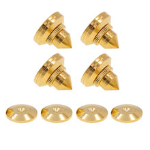 4PCS AUDIO FEET 28x25mm Brass Isolation Speaker Amplifier DAC Turntable Spike Stand Base Cone Vibration Shockproof  Mat