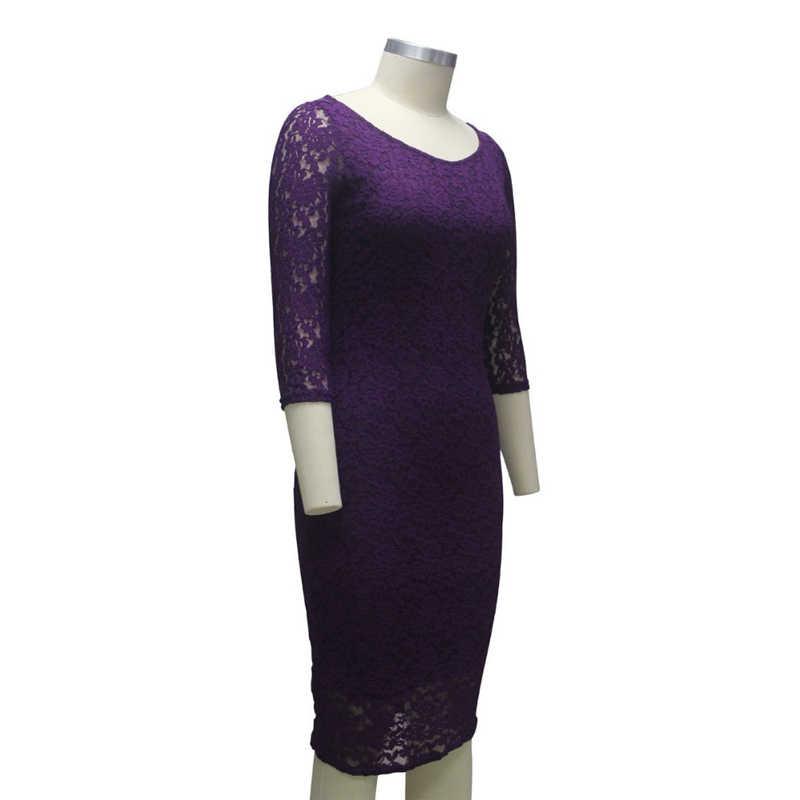 d5c14cc94d6df Womens Elegant Summer Fashion 2018 Runway Casual Party Lace Hollow Out  Little Black Slim Bodycon Below Knee Length Midi Dresses
