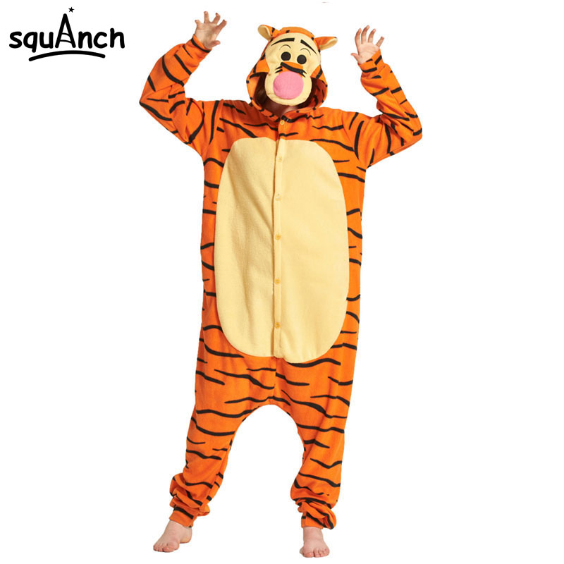 fdb885582b3 Detail Feedback Questions about Tiger Onesie Kigurumi Women Girl Adult  Funny Pajama Cartoon Animal Sleepwear Jumpsuit Polar Fleece Carnival Street  Wear ...