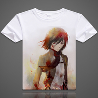Japanese Anime T Shirt Tshirt Scouting Legion Clothes Shingeki No Kyojin Tee Shirt Attack On Titan