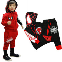 2015 new Clothing set spider man costume spiderman suit spider-man costume boy Sets