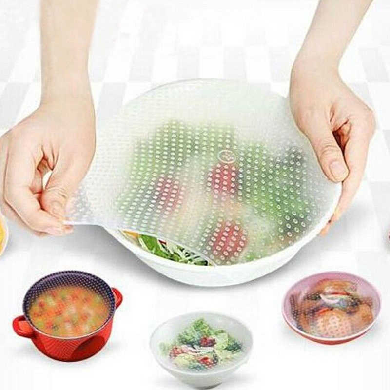 Hot Silicone Plastic Wrap Seal Vacuum Food Magic Wrap Storage Food Fresh Keeping Kitchen Tool Multifunctional
