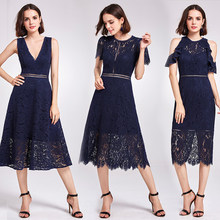 New Arrival Cocktail Dresses Ever Pretty AS05922 Women's Cheap A-line Lace Short Sleeve Cut-out Plus Size Modest Party Dresses(China)